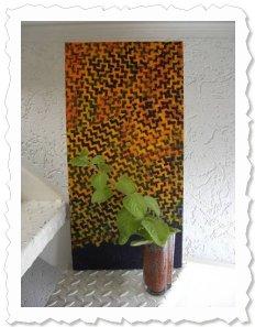 Antonia auf der Treppe hinauf zum Atelier am 12. September 2009. Sie wächst jetzt endlich etwas langsamer ;-)